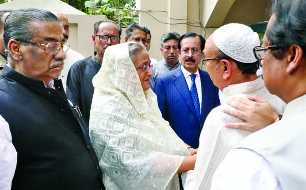 Prime Minister Sheikh Hasina visited the residence of Awami League Presidium Member Sheikh Fazlul Karim Selim in the city's Banani on Wednesday and consoled the family members of Zayan Chowdhury who was killed in a deadly bomb attack in Colombo on Easter Sunday.