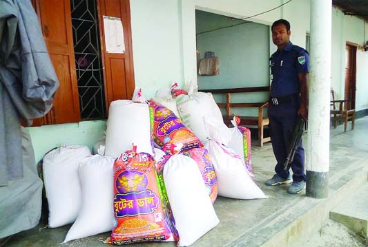 KHULNA : Police recovered 1100 kgs rice allotted for Open Market Sale (OMS) from Dhighalia Upazila of the district  on Wednesday.