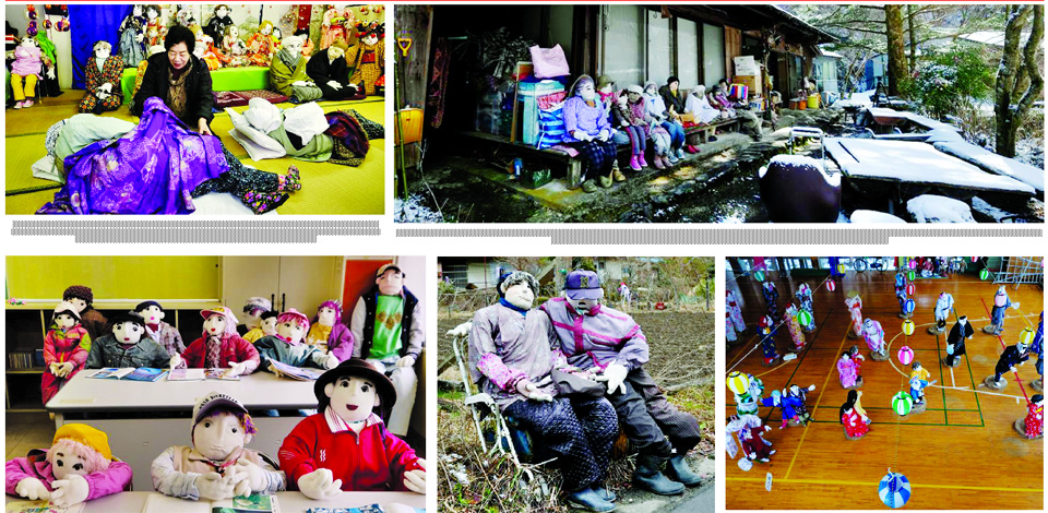 Japanese woman fills a lonely  village with life-sized dolls