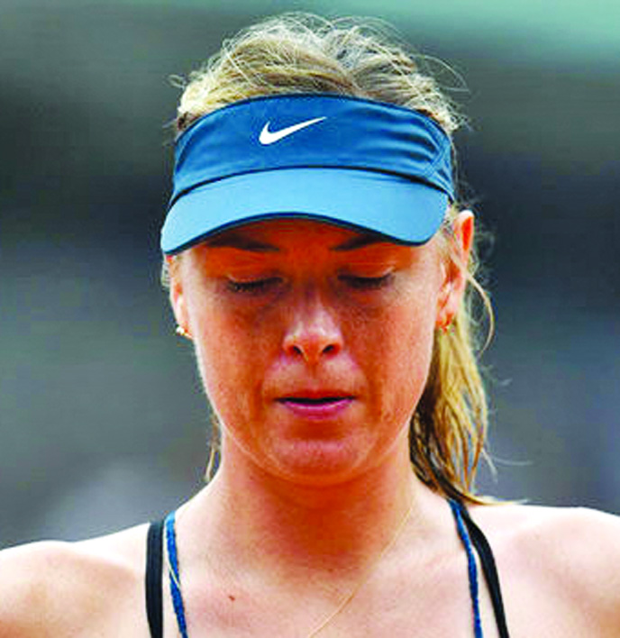 Shoulder injury rules Sharapova out of Roland Garros