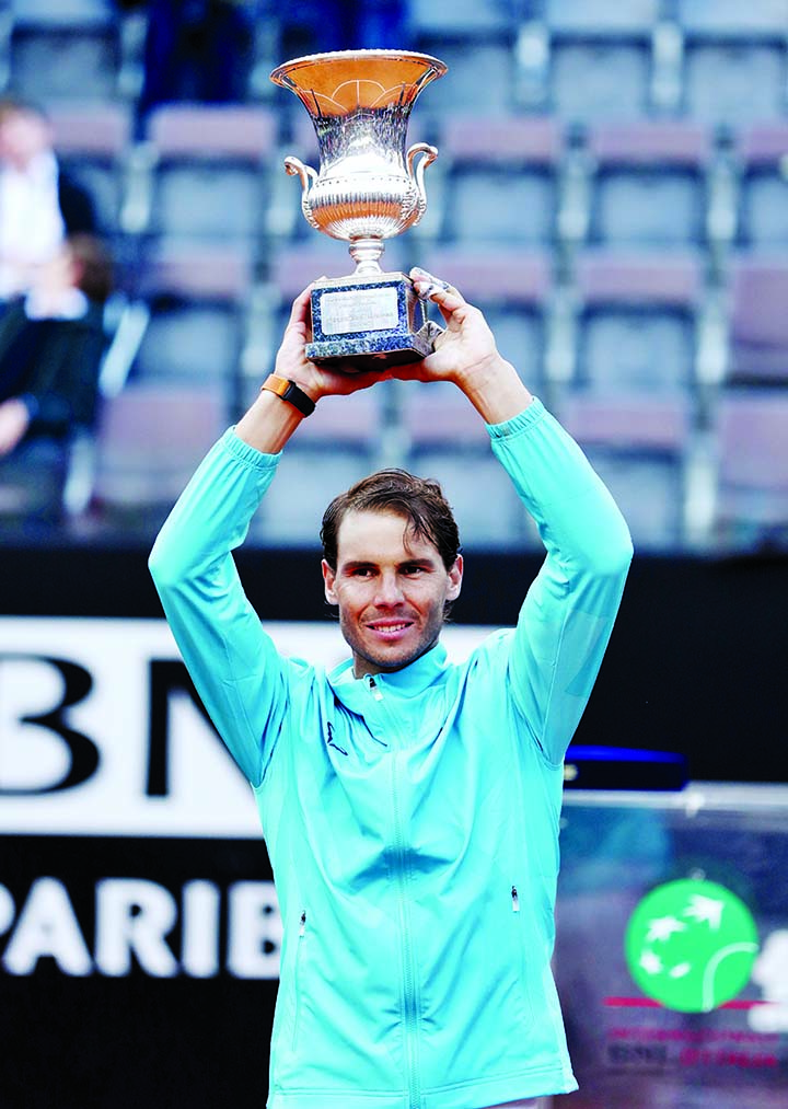 Nadal beats Djokovic for 9th Italian Open title