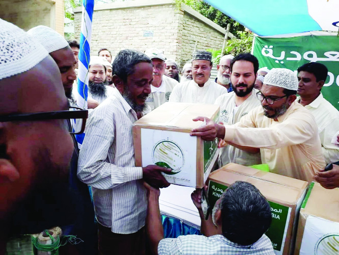 King Salman Humanitarian Relief Centre  distributes Iftar  in Naogaon