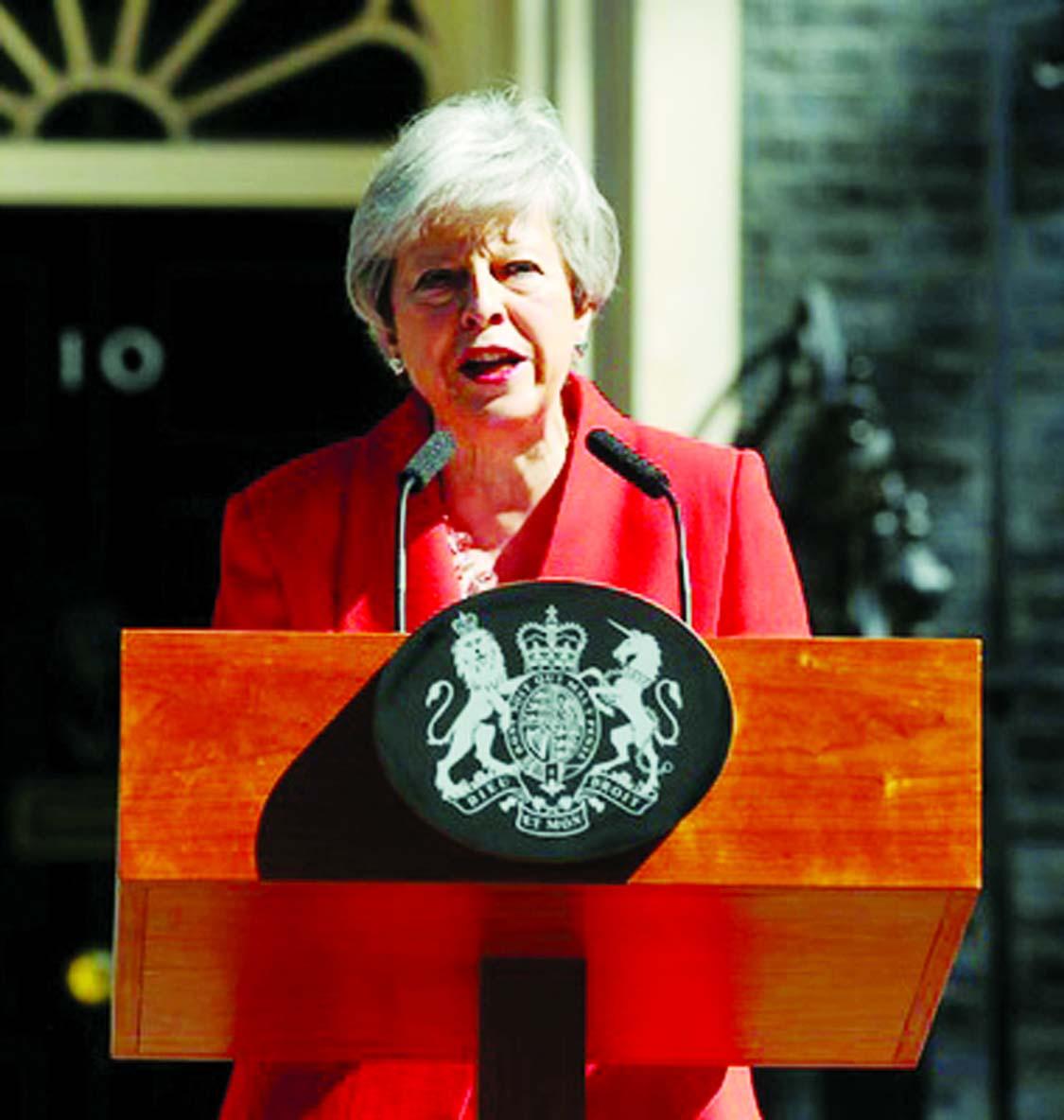 British PM May resigns