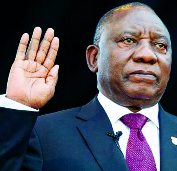 Ramaphosa sworn-in as South African president