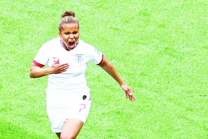 Goal-scorer  Parris puts spring in      England's step