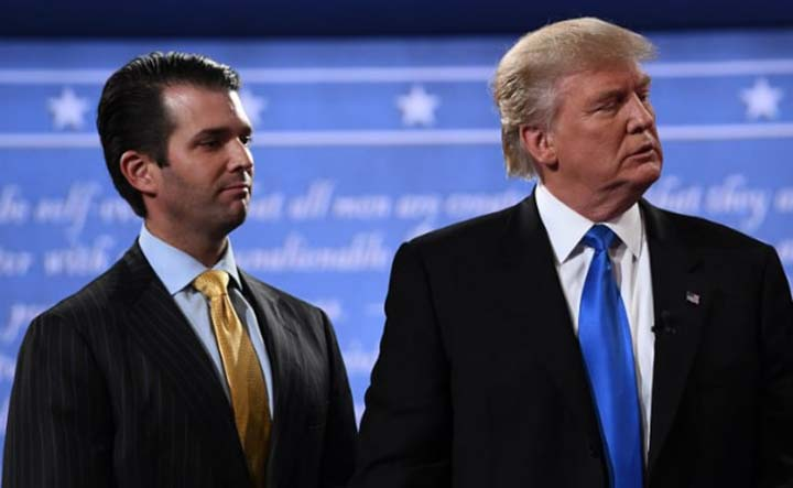 Trump's son to     testify in Russia     election meddling probe