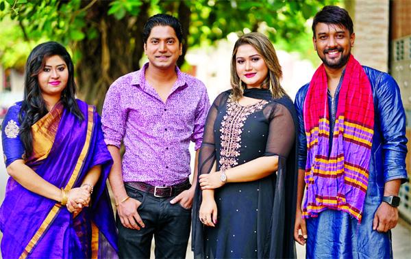 Shorolipi, Zhilik, Rajib render  songs under Muhin's
