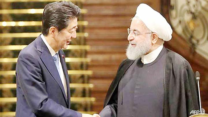 Abe urges Iran to play 'constructive role' to prevent clash with US