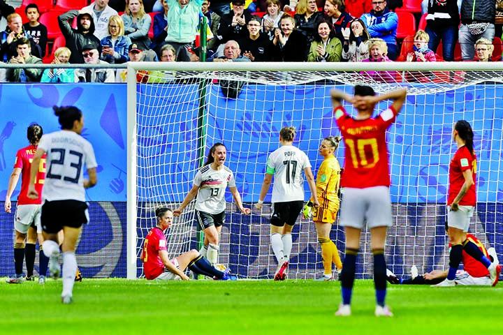Germany beat Spain 1-0 in Women's World Cup