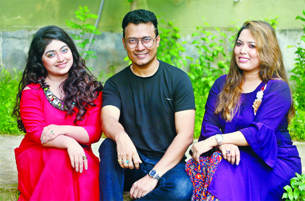 Adhora writes, Shoron renders song, Shan composes music