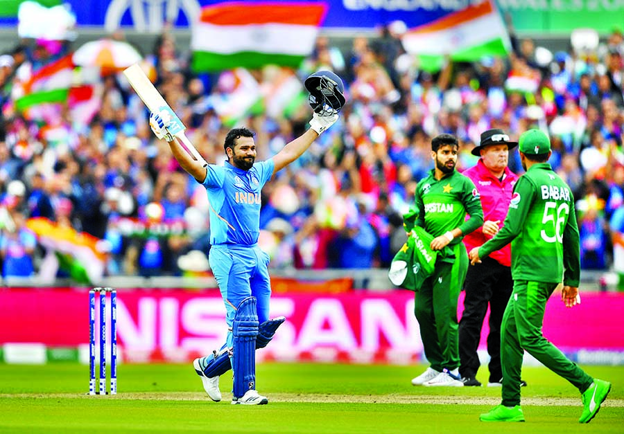 India make 336/5, Pakistan 43/1