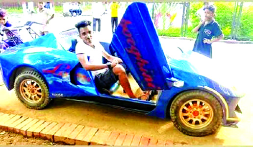 Youth builds electric car from scratch