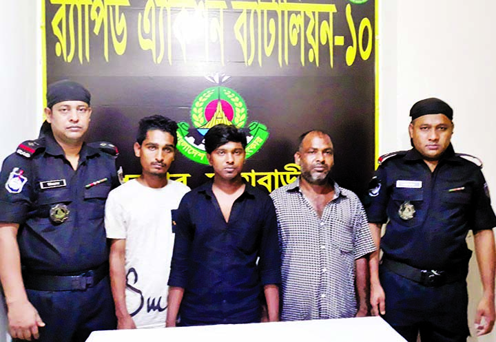 Members of RAB-10 nabbed three persons with foreign wine from the city's Gulshan area on Wednesday.