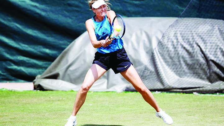 Sharapova makes winning return in Mallorca