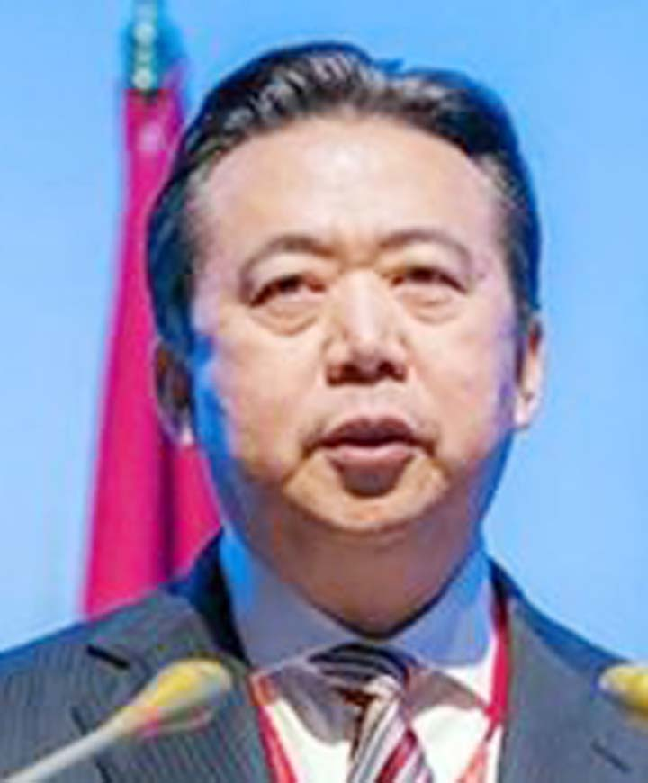 China's ex-Interpol chief pleads guilty to bribery