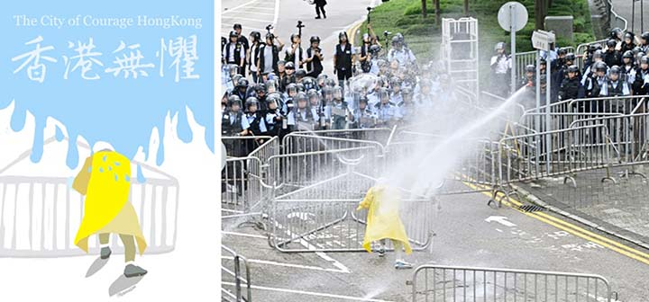 Memes, cartoons and caustic Cantonese: the language of Hong Kong's protests
