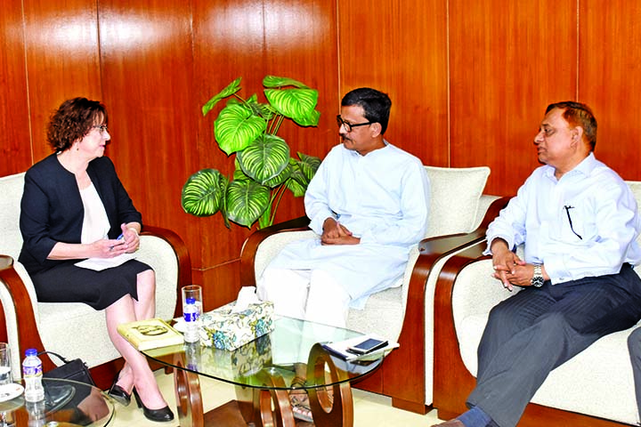 Envoy of Denmark to Bangladesh Ms Winnie Estrup Petersen paid a courtesy call on State Minister for Shipping Khalid Mahmud Chowdhury at the latter's office of the ministry on Tuesday.