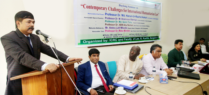 Seminar on 'Contemporary Challenges' at IU