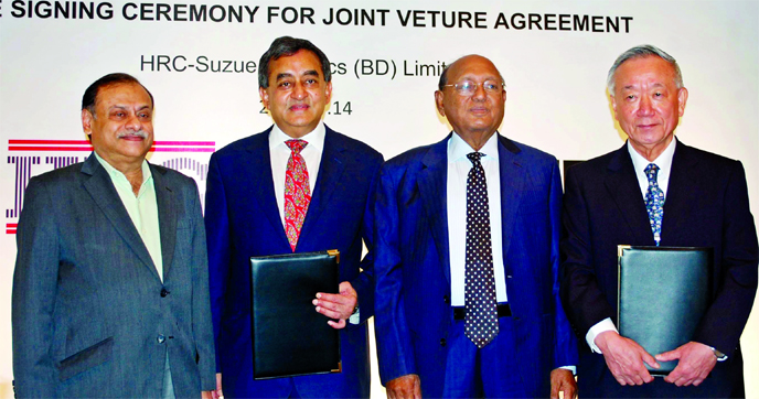 SUZUE Corporation and HRC signed a Joint Venture Agreement