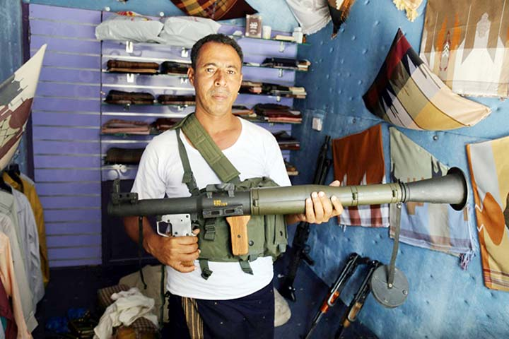 From crafts to Kalashnikovs: Arms souk thrives in Yemen's Taez