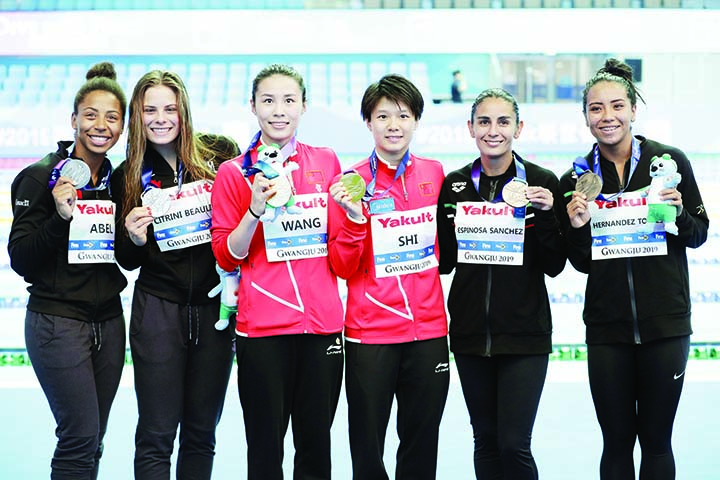 Six of six for China as women win world 3m synchro gold