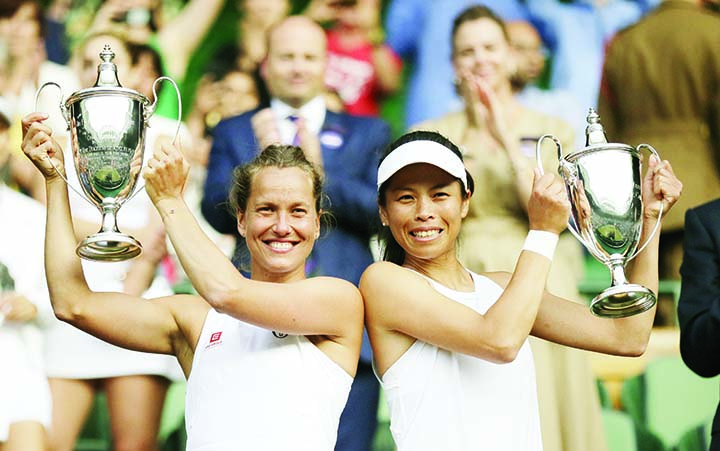 Strycova wins doubles title after semifinal loss in singles