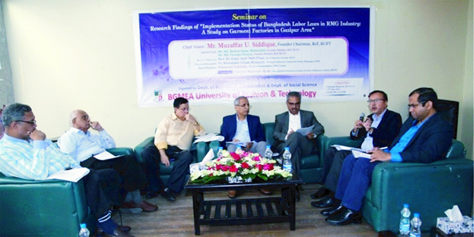Research seminar on Labour Laws in RMG industry at BUFT
