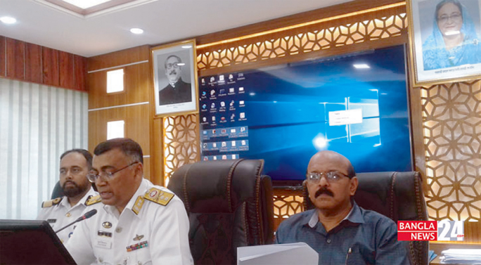 Chairman of Chattogram Port Authority Rear Admiral Zulfiqar Aziz attended a view exchange   meeting with  journalists in the conference room of the Port Bhaban  on Saturday.