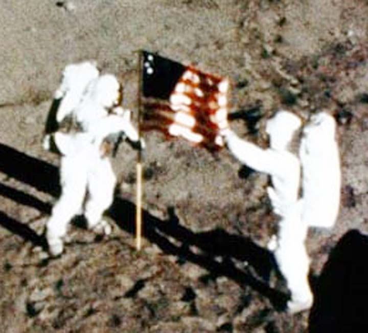 Houston celebrates exact moment Neil Armstrong set foot on Moon