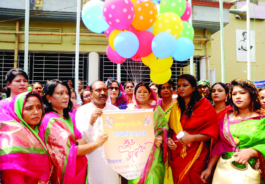 BOGURA:  Prof Opu Ukil , General Secretary, Bangladesh Jubo Mahila League inaugurating conference of  Jubo Mahila  League  in Bogura on Sunday.