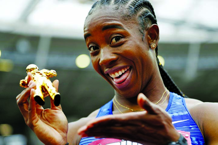 Fraser-Pryce beats Asher-Smith to win 100m in London