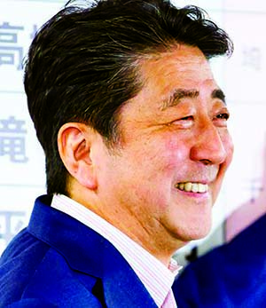 Shinzo Abe declared victory in Japan election