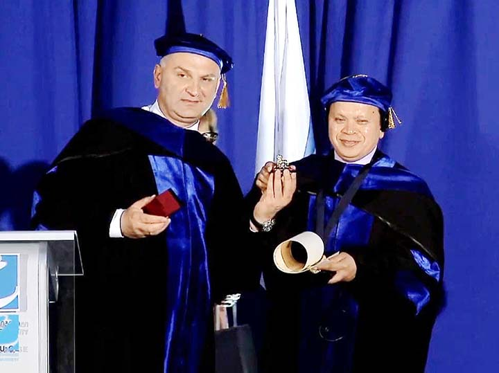 DIU Chair receives Honorary Doctorate of Georgian CU