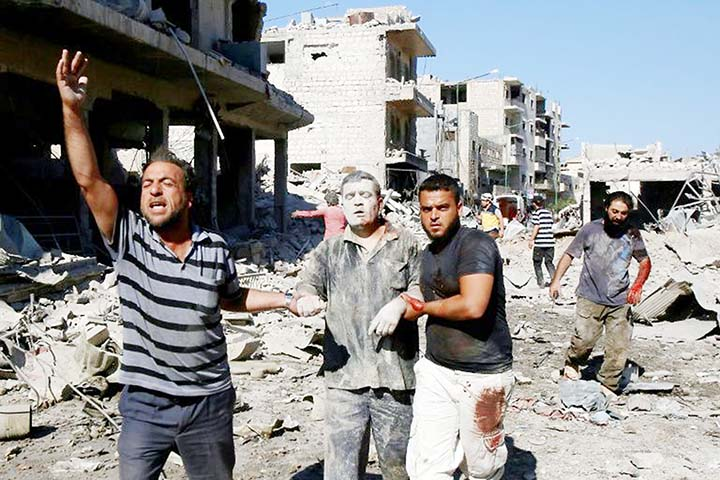 Airstrikes kill 50 civilians in Syria's northwest