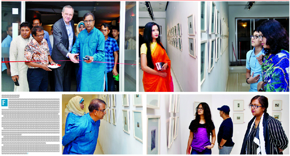Hira Sobhan's solo miniature exhibition at Alliance Francaise