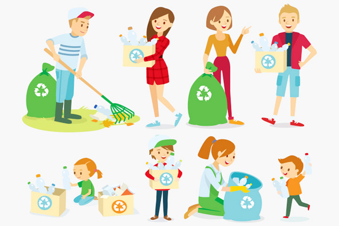 Inspire kids to reduce, reuse and recycle