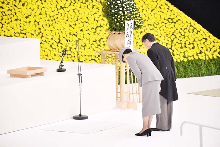 Japan's new Emperor speaks of 'deep remorse' in 1st speech marking WWII
