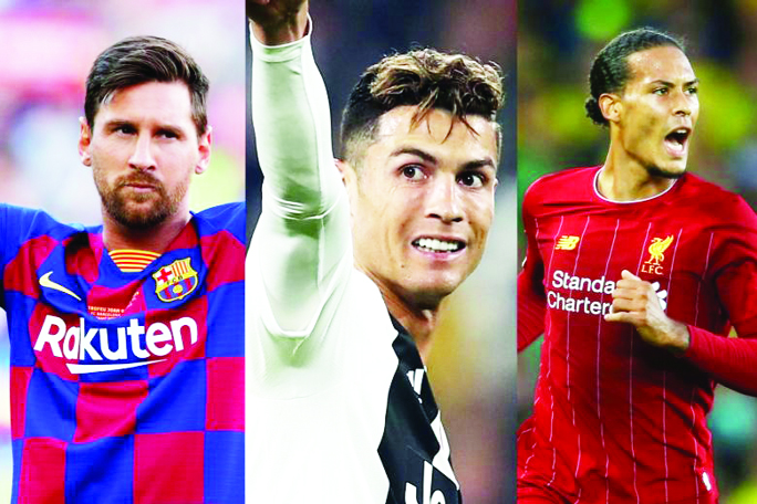 Messi, Ronaldo and Van Dijk shortlisted for UEFA awards