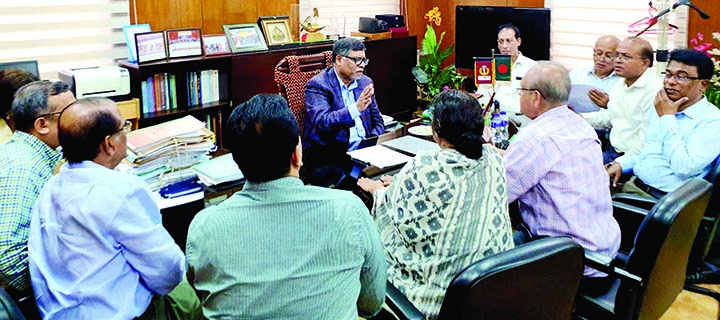 Dengue Prevention and Treatment Monitoring Cell of Bangladesh Awami League discussed latest situation of dengue with Health and Family Welfare Minister Zahid Maleque at his office yesterday.