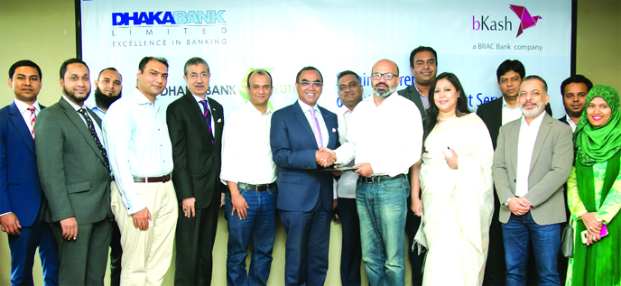 Dhaka Bank, bKash sign deal