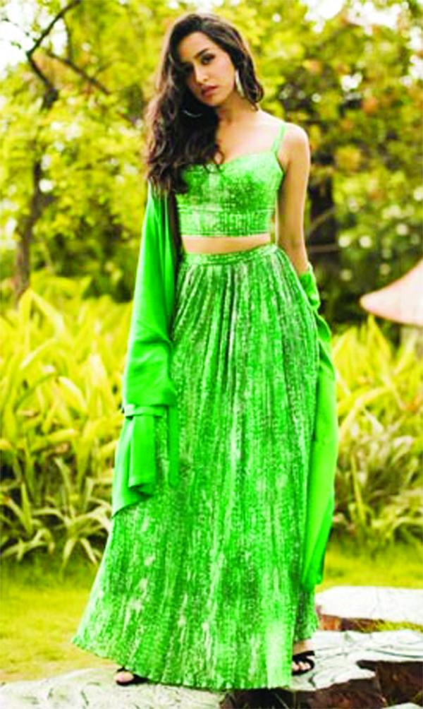 Shraddha stuns in a green lehenga