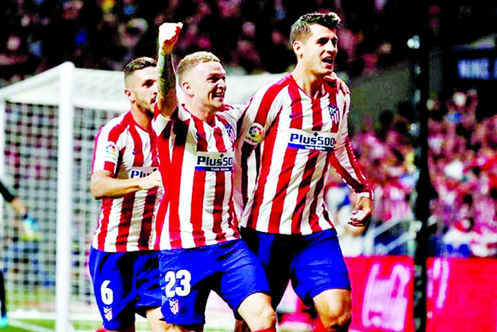 Trippier and Morata combine to give Atletico winning start
