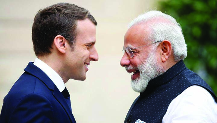 Macron to discuss Kashmir with Modi  ahead of G7 Summit