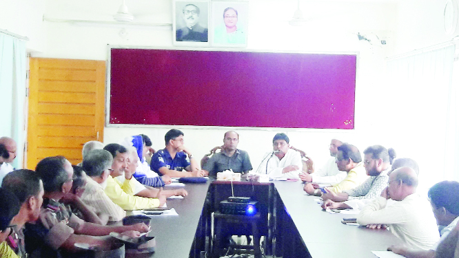 CHARGHAT (Rajshahi): A review meeting on law and order situation was held at  Administration Conference Hall Room in  Charghat Upazila  yesterday . Among others,  Nazmul Haque, UNO  presided over the meeting.