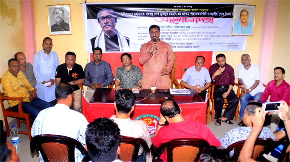 CCC Panel Mayor Dr Nisar Uddin Ahmed Monju speaking as Chief Guest at a discussion on National Mourning Day recently.
