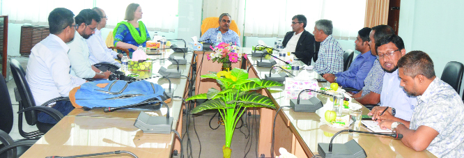 AGRI-VARSITY (Mymensingh): IRRI representative for Bangladesh Dr. Humnath  Bhandari called on BAU Vice-Chancellor Prof Dr. Lutful Hassan during his visit at the Bangladesh Agricultural University on Wednesday.