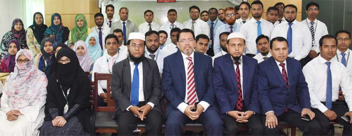 Farman R Chowdhury, Managing Director of Al-Arafah Islami Bank Limited, attended a program on 'Orientation Course on Banking' at the bank's Training and Research Institute in the city on Sunday. Md. Abdur Rahim Duary, Principal of the Institute, Touhid Siddique, Vice President and Mohammad Mujibur Rahman, Assistant Vice-President of the bank were also present.
