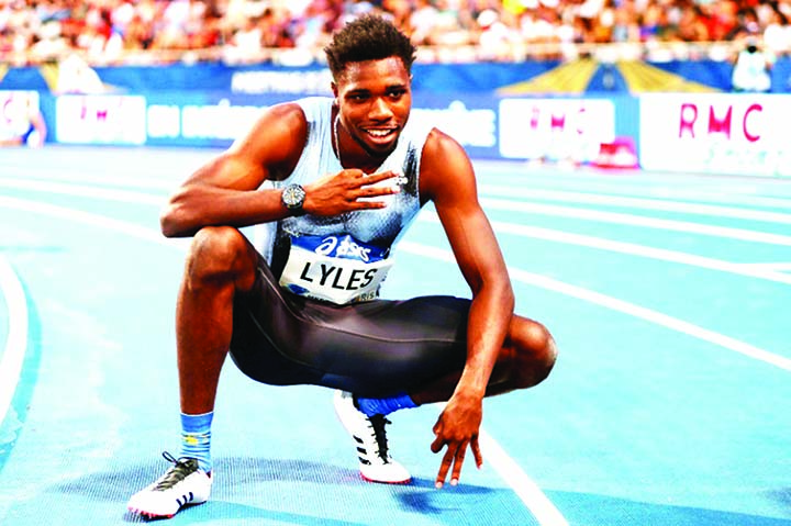 Fast-rising sprinter Lyles focused on the maths
