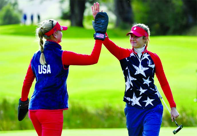 Europe take Solheim Cup lead despite Korda sisters' success