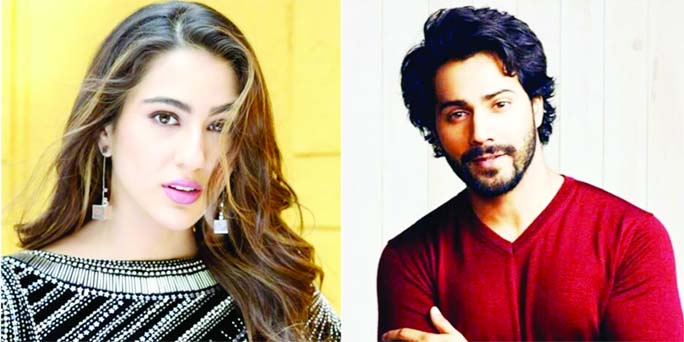 Varun , Sara Ali Khan to take  small  off post fire mishap